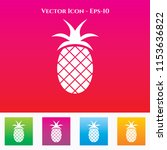 pineapple icon in colored... | Shutterstock .eps vector #1153636822