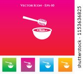 honey dipper icon in colored... | Shutterstock .eps vector #1153636825