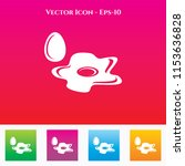 omelette icon in colored square ... | Shutterstock .eps vector #1153636828