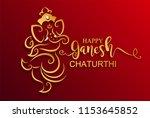 festival of ganesh chaturthi... | Shutterstock .eps vector #1153645852