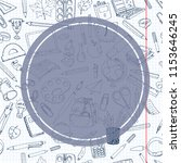 back to school sale flyer card. ... | Shutterstock . vector #1153646245