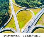 aerial view of highway in city. ...   Shutterstock . vector #1153649818