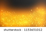 shining stars on a transparent... | Shutterstock .eps vector #1153651012
