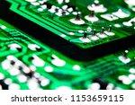 macro shot of a circuitboard... | Shutterstock . vector #1153659115