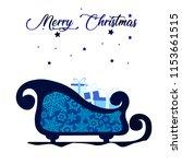 christmas winter illustration... | Shutterstock .eps vector #1153661515