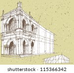 sketching historical... | Shutterstock .eps vector #115366342