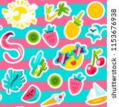 vector tropical summer seamless ...   Shutterstock .eps vector #1153676938
