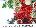 medicinal plants and herbs... | Shutterstock . vector #1153677262