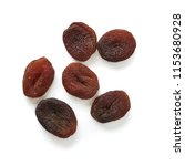 sun dried apricots isolated on... | Shutterstock . vector #1153680928