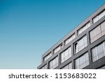 the corner of the building with ... | Shutterstock . vector #1153683022