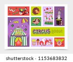 flat circus infographic concept | Shutterstock .eps vector #1153683832