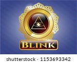 gold shiny badge with... | Shutterstock .eps vector #1153693342