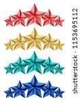 set of colorful stars isolated...   Shutterstock . vector #1153695112