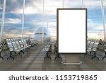 airport departure lounge. blank ... | Shutterstock . vector #1153719865