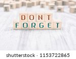 the words don't forget formed... | Shutterstock . vector #1153722865