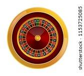 roulette casino mockup.... | Shutterstock . vector #1153725085