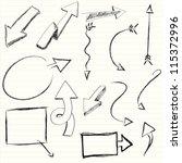 illustration of set of hand... | Shutterstock .eps vector #115372996