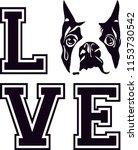boston terrier dog breed love... | Shutterstock .eps vector #1153730542