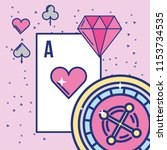 casino and gambling roulette... | Shutterstock .eps vector #1153734535