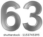 numeral 63  sixty three ... | Shutterstock . vector #1153745395