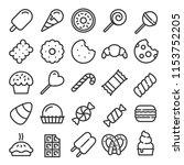 dessert line icons | Shutterstock .eps vector #1153752205