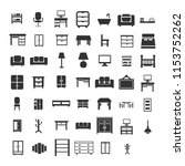 home furniture icons | Shutterstock .eps vector #1153752262