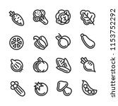 vegetable line icons | Shutterstock .eps vector #1153752292