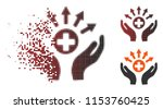 vector medical distribution... | Shutterstock .eps vector #1153760425