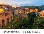 villa gregoriana in tivoli at... | Shutterstock . vector #1153762618