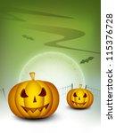 halloween night background with ...   Shutterstock .eps vector #115376728