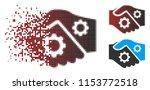 vector smart contract handshake ... | Shutterstock .eps vector #1153772518