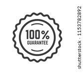 100  guaranteed label icon... | Shutterstock .eps vector #1153782892