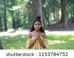 charming african american woman ... | Shutterstock . vector #1153784752