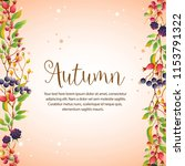 happy autumn colorful leaves... | Shutterstock .eps vector #1153791322