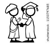 stick figure qualification... | Shutterstock .eps vector #1153797685