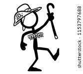 stick figure qualification... | Shutterstock .eps vector #1153797688