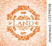 land abstract orange mosaic... | Shutterstock .eps vector #1153798108