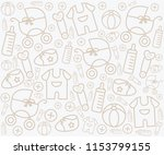 background with baby gear... | Shutterstock .eps vector #1153799155
