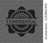 confidential dark emblem | Shutterstock .eps vector #1153801945