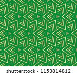 modern geometric ornament.... | Shutterstock . vector #1153814812