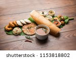 group of south indian food like ... | Shutterstock . vector #1153818802