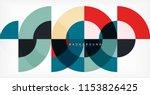 minimal circle abstract... | Shutterstock .eps vector #1153826425