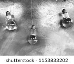 water in bulb  black white  | Shutterstock . vector #1153833202