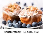Muffins With Fresh Blueberries...