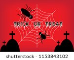 halloween theme  trick or treat ... | Shutterstock .eps vector #1153843102