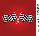 crossed checkered racing flags | Shutterstock .eps vector #115384708
