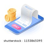 the online payment bill. smart... | Shutterstock .eps vector #1153865395