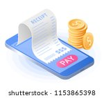 the online bill payment.... | Shutterstock .eps vector #1153865398
