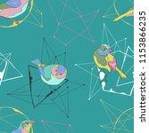 birds. geometrical figures and... | Shutterstock .eps vector #1153866235