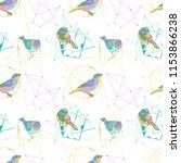 birds. geometrical figures and... | Shutterstock .eps vector #1153866238